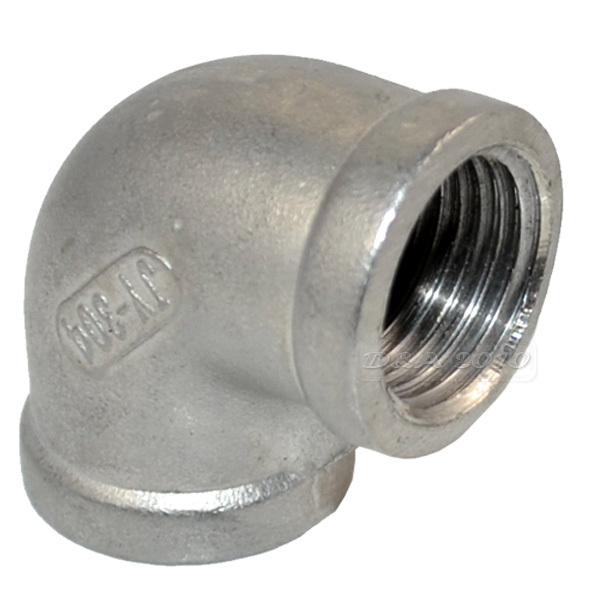 MEGAIRON 1/2 Elbow 90 Degree Angled F/F Stainless Steel SS 304 Female*Female Threaded Pipe Fittings