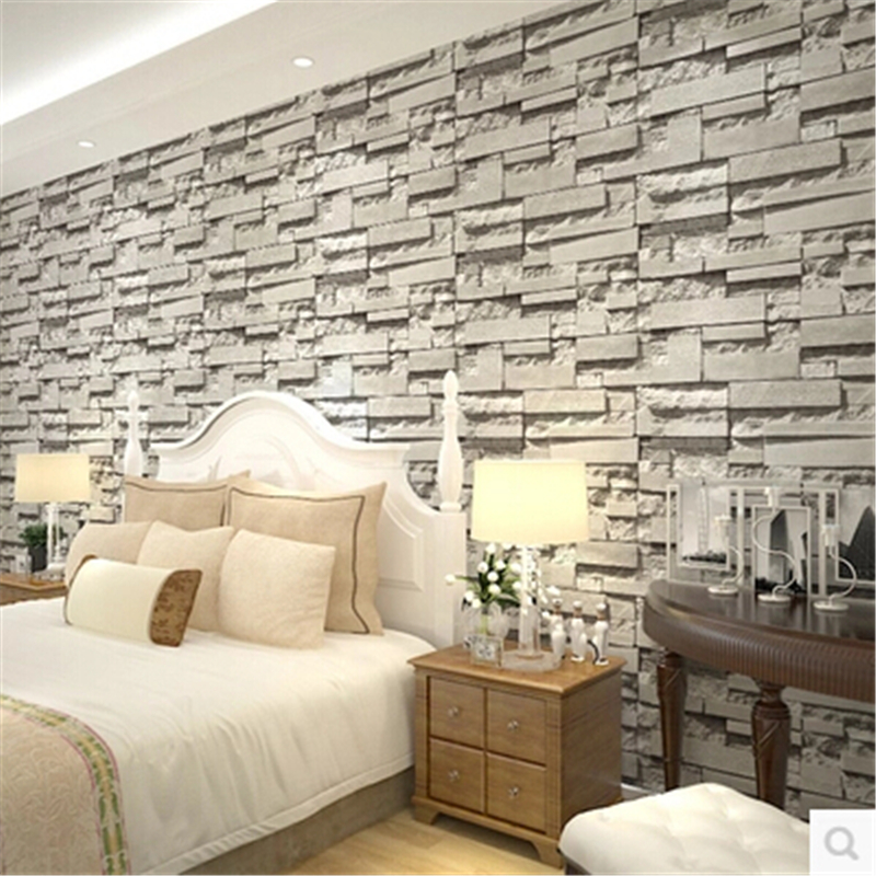 Online buy wholesale brick wall paper from china brick for Papel pintado grueso