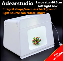 Portable Mini kit Photo Photography Studio Light Soft Box (465*340*365mm)  Photo box Photography Lightbox Adearstudio CD50