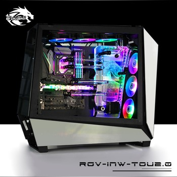BYKSKI Acrylic Board Water Channel Solution use for IN WIN TOU2.0 Case Chassis for CPU GPU Block / 3PIN RGB / Combo DDC Pump