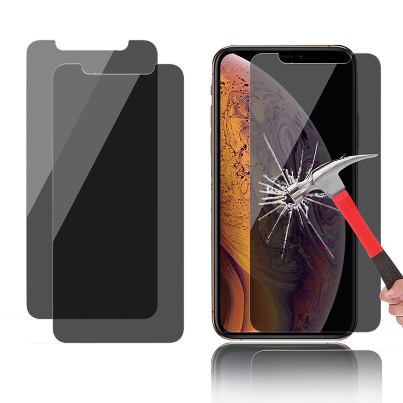 EXUNTON 2 5D Anti Spy Privacy Tempered Glass Screen Protector Protective Film For Apple iPhone XS Max XR XS X Black Front Film in Phone Screen Protectors from Cellphones Telecommunications