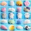 Cute Christmas Gift Cute Mochi Cat 20pcs 16pcs Squeeze Fun Kids Kawaii Toy Squishy 30S71103 Drop