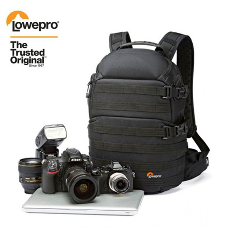 Free Shipping NEW Genuine Lowepro ProTactic 350 AW DSLR Camera Photo Bag Laptop Backpack with All Weather Cover-in Camera/Video Bags from Consumer Electronics    1