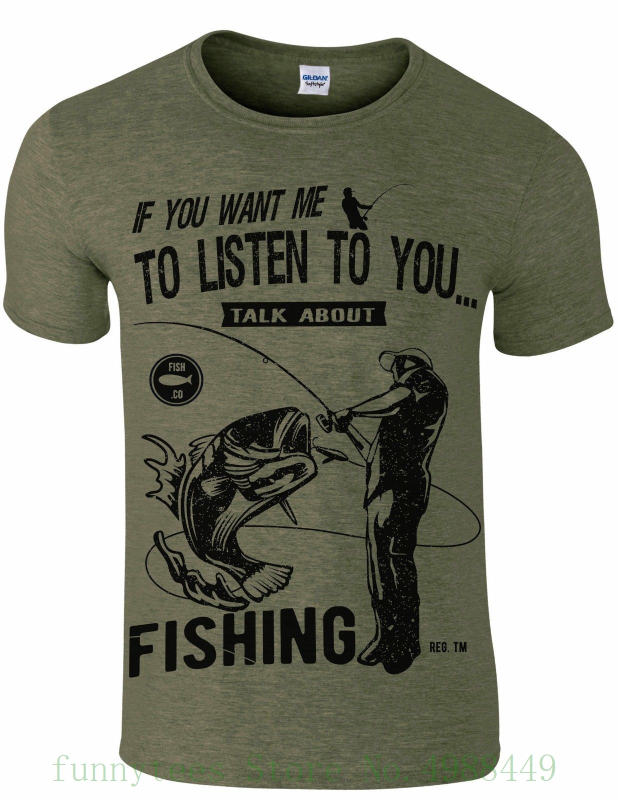 Fisher Humour Men`s T Shirt Talk About Fisher Carp Angling Gift Cotton Low Price Top Tee For Teen Girls image