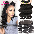 Malaysian Body Wave With Closure 13x4 Ear To Ear Lace Frontal Closure With Bundles Full Lace Frontal Closure With Baby Hair