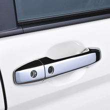 JY 8PCS Chrome ABS Door Handle Trim Accessories Car Styling Cover With Smart Keyhole For HONDA STEPWGN RK 2009 2015