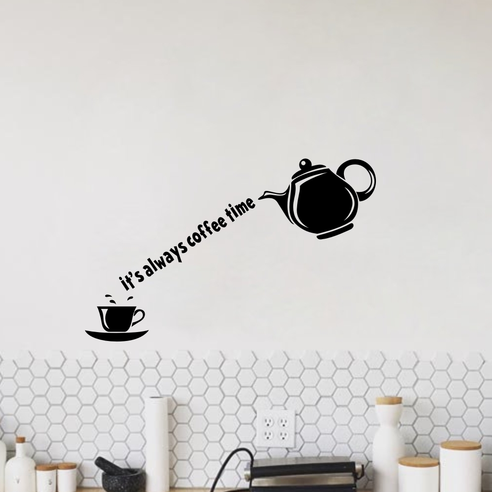 8x 10cm Coffee Tea Cup kitchen wall stickers Decals Decoration Tiles Window art