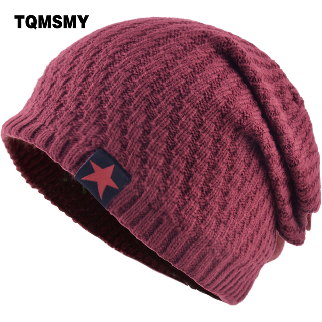 TQMSMY Men Winter Hat Knitted Beanie Skullies Women Label Red Star Caps Beanies  Hats for Men Gorros Cap Casquette Hats TMS05 c4f5e4ac93e