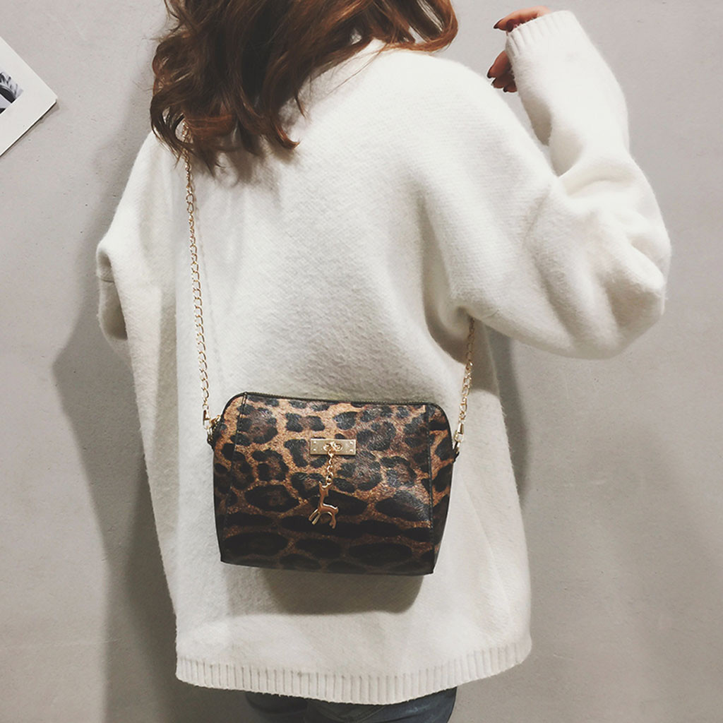 Gepäck & Taschen Berühmte Marke Fashion Frauen Leopard Print Fawn Anhänger Shell Schulter Tasche Messenger Tasche Kreative Borsa Ein Tracolla Da Donna #25