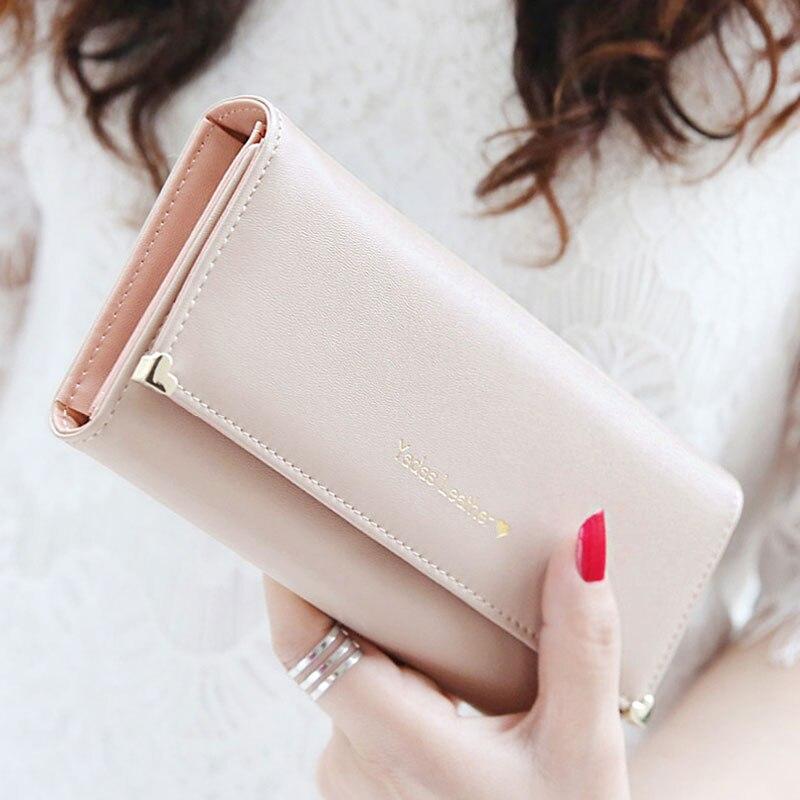 2018 Fashion Handbags Lady Women Hasp Wallets Bag Popular Clutch Long Purse Long PU Handbags Card Holder Card Holder Bags
