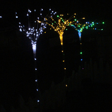 1 Pcs Solar Power DIY Light Fireworks Modeling Lighting 100 LED Variety Shaped Tree Lights Landscape Lamp For Garden Ground Lawn