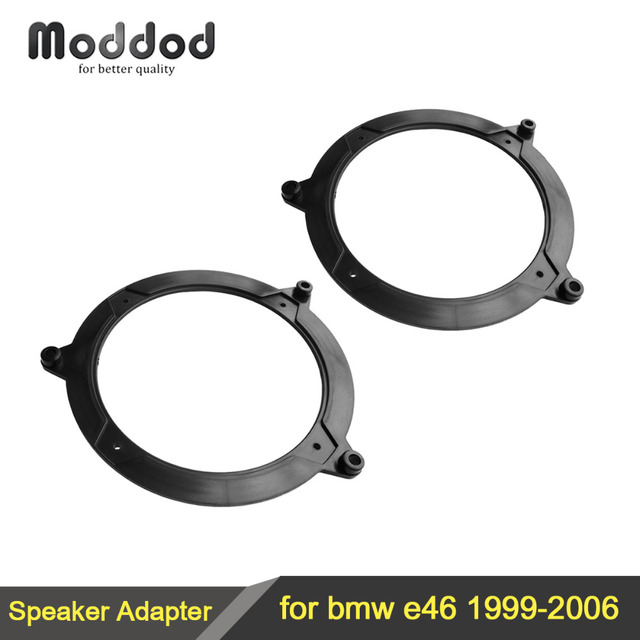 "Car Speaker Adapter for 1999-2006 BMW 3 Series E46 130MM 5.25"" FRONT&REAR Door Speaker Adaptors Kit Rings Plate"