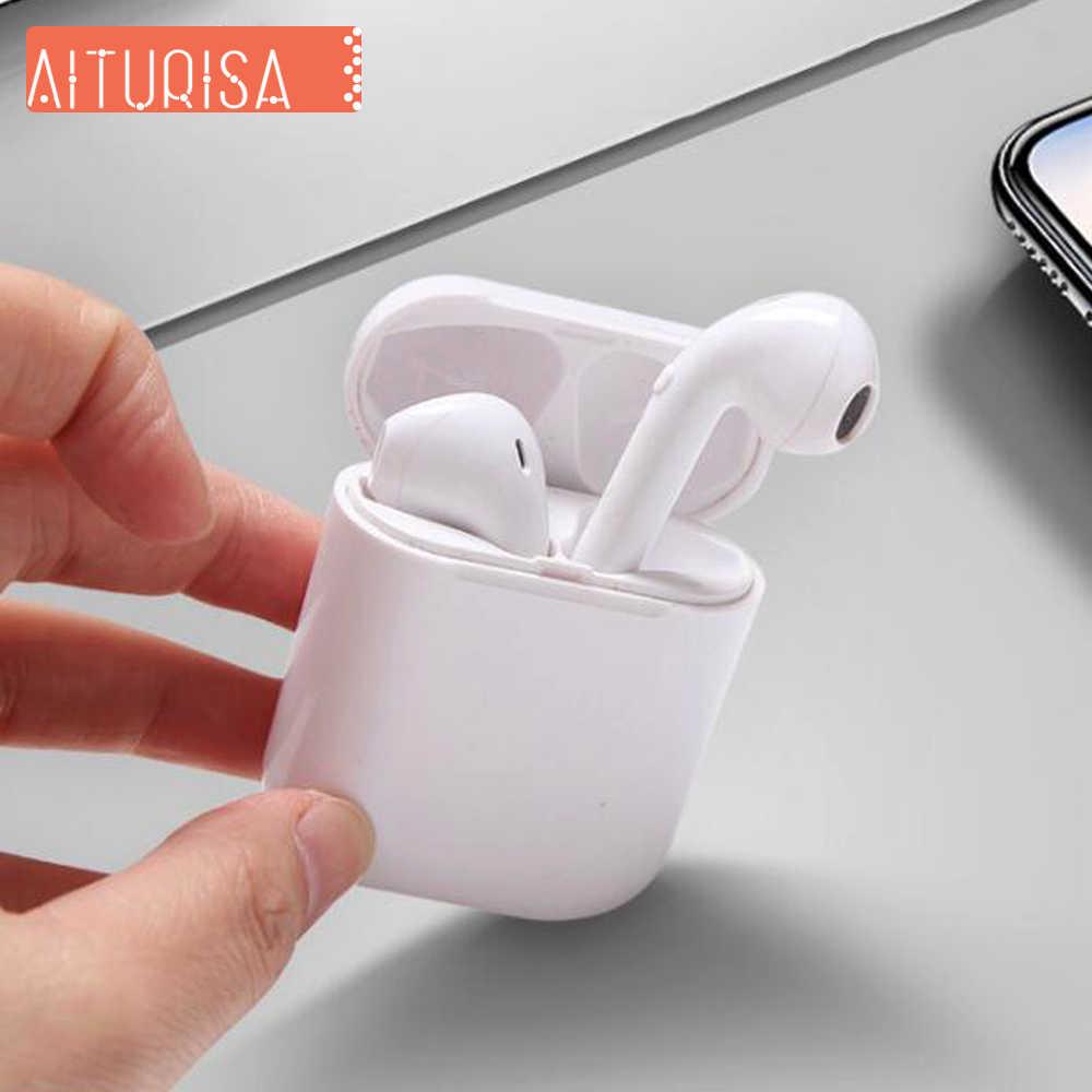 Auriculares estéreo TWS Bluetooth 5,0 Auriculares auriculares inalámbricos True con caja de carga Mic para Xiaomi todos los teléfonos inteligentes