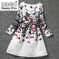 Yingwaaiyi Butterfly Party Girl Dress Wedding Dress For Girl Kids Baby Clothes 2017 Brand Wedding Dress
