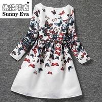 Yingwaaiyi Butterfly Party Girl Dress Wedding Dress For Girl Kids Baby Clothes 2017 Brand Wedding Dress