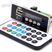 Hurtownie 7 ~ 12V samochodowy zestaw głośnomówiący Bluetooth MP3 APE dekodowania wyżywienie z moduł Bluetooth FM MP3 zestaw LED USB Audio dekoder karty DIY