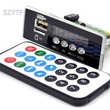 Wholesale 7~12V Car Handsfree Bluetooth MP3 APE decode board with Bluetooth module FM MP3 KIT LED USB Audio card decoder DIY