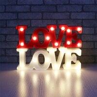 Lãng mạn Nhỏ Màu Trắng TÌNH YÊU Marquee Đăng Night Lights Cho Trang Chủ Trang Trí Wedding Valentine Quà Tặng