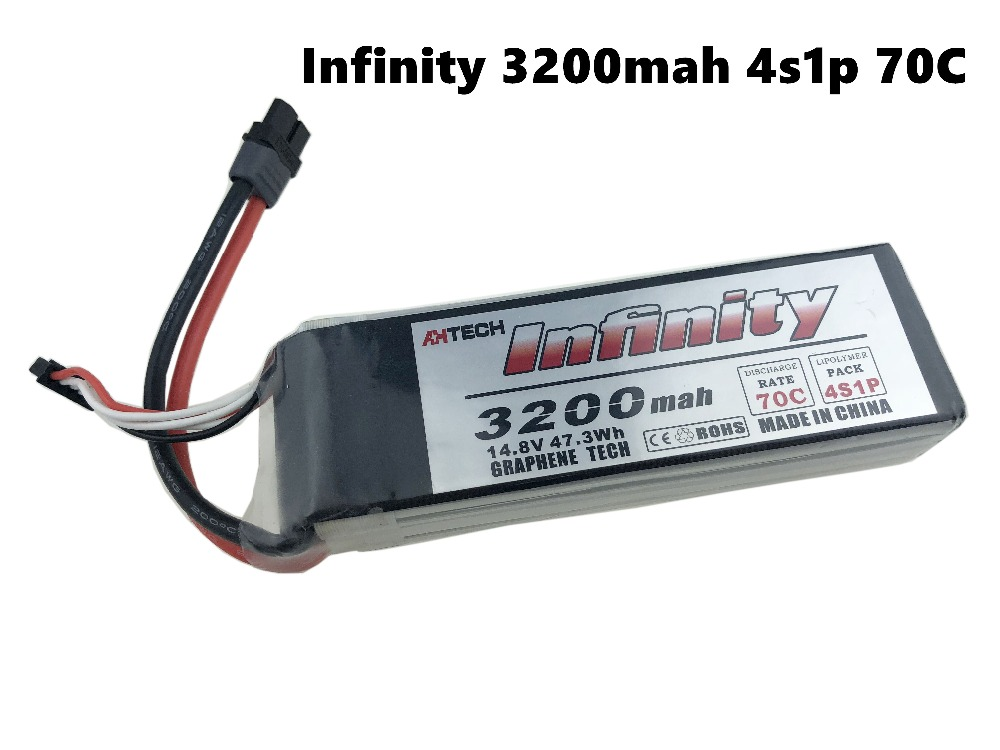 Infinity 3200mAh 4S1P 4S 70C 14.8V LiPo Rechargeable Battery SY60 XT60 Plugs for RC FPV Multicopter Model DroneInfinity 3200mAh 4S1P 4S 70C 14.8V LiPo Rechargeable Battery SY60 XT60 Plugs for RC FPV Multicopter Model Drone