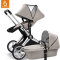 Babysing Travel Systems 2-in-1 Baby Stroller High View Pram Anti-Shock Off Road Pushchair with Bassinet XGO