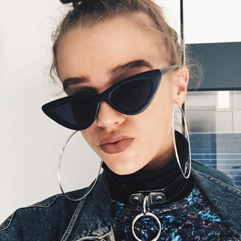 8fb14ae5524 US $0.67 |2018 FGHGF Triangle Retro Cat Eye Sunglasses Women Small White  Fashion Shades Triangle Vintage Cheap Sun Glasses Street Style-in  Sunglasses ...