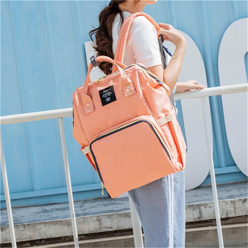 HTB1 NcQLHrpK1RjSZTEq6AWAVXa7 23 Colors Fashion Mummy Maternity Nappy Bag Large Capacity Baby Diaper Bag Travel Backpack Designer Nursing Bag for Baby Care