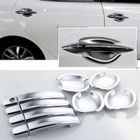 High quality For Hyundai Elantra ABS Car Styling Chrome Side Door Handle Cover and Door Bowl Cover