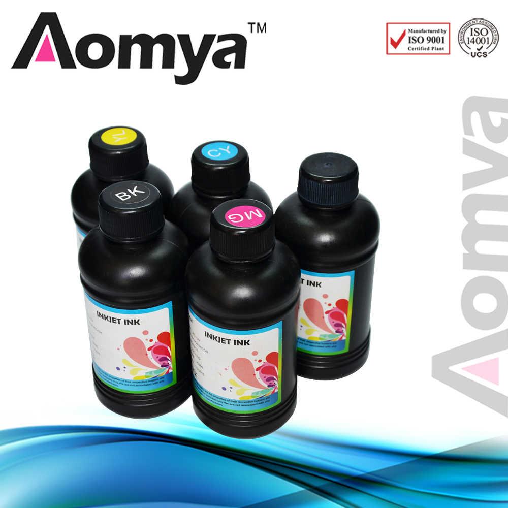 250 Ml 5 Botol/Set LED UV Fleksibel Tinta untuk Epson R280 R290 R330 L800 1390 1400 UV Printer DX5 DX7 UV LED Tinta (BK C M Y Putih)