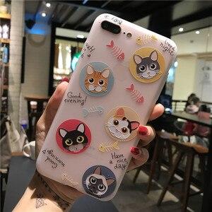Image 5 - טלפון מקרה 3D הבלטה יפה פרח slim fit בולם זעזועי רך גומי כיסוי רך TPU עור מקרה עבור iphone 7 Xr X 8 xs בתוספת