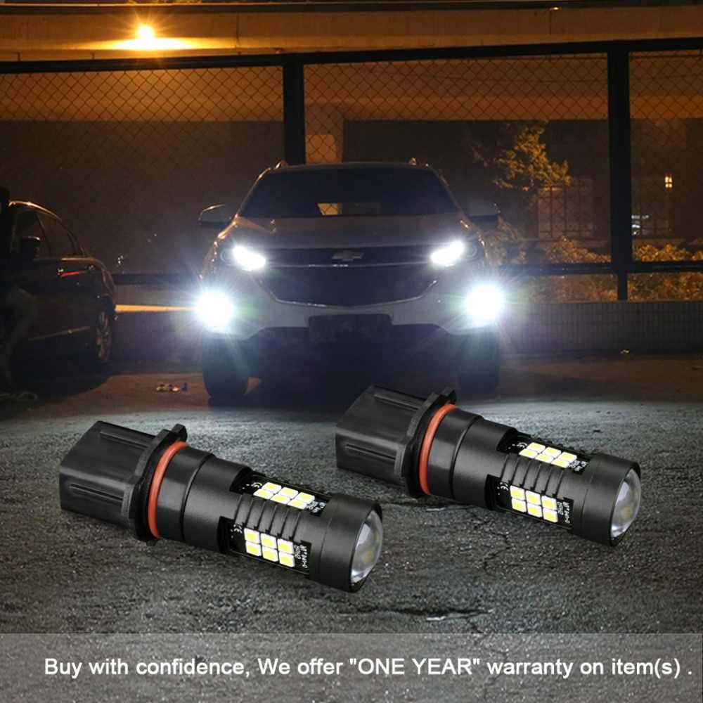 S & D 2 шт. Автомобильные светодиодные лампы H11 H8 светодиодный лампы HB4 светодиодный HB3 9006 9005 P13W H27 880 881 белый 1200Lm 12 V автомобильный фар дальнего света заменить огни