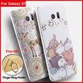 Vpower case tpu para samsung galaxy s7 3d de silicona cubierta de la historieta volver soft casa para galaxy s7 + envío sostenedor del anillo de dedo