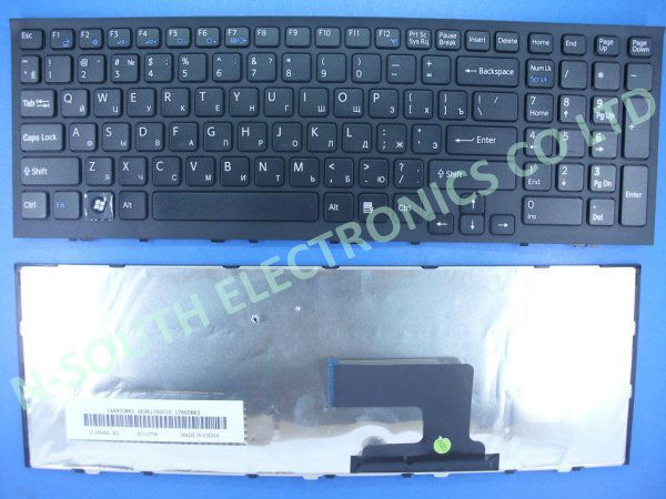 Free shipping Black laptop Russian Ru keyboard For Sony Vpc-Eh EH