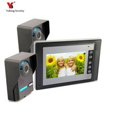 Yobang Security freeship 7 inch Video Intercom Night Vision CMOS Camera support Door Access Control Two To One Video door phone