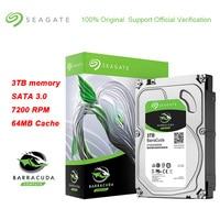 Seagate BarraCuda 3 ТБ 3,5 дюйма внутренний 256 MB Кэш игровой HDD 5900 об/мин SATA 3,0 6 ГБ/сек. жесткий диск для рабочего хранилище ПК
