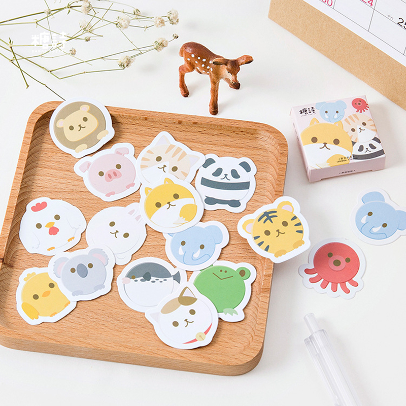 45Pcs/set Creative Cute Fat Animals Mini Paper Sticker Decoration Diy Ablum Diary Scrapbooking Label Sticker Kawaii Stationery