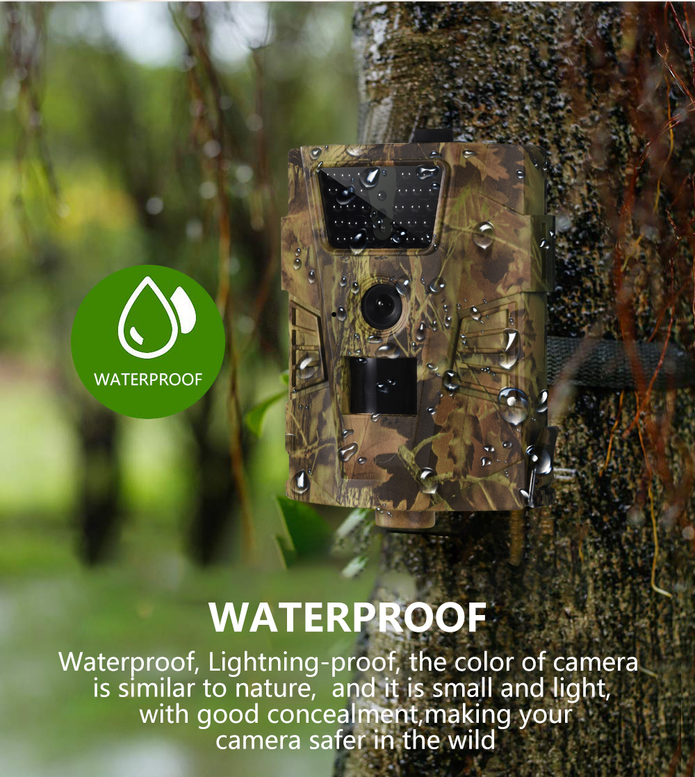 Wildlife Trail Camera HT001B Infrared Night Vision Hunting Cameras 12MP Outdoor Wild Surveillance Tracking