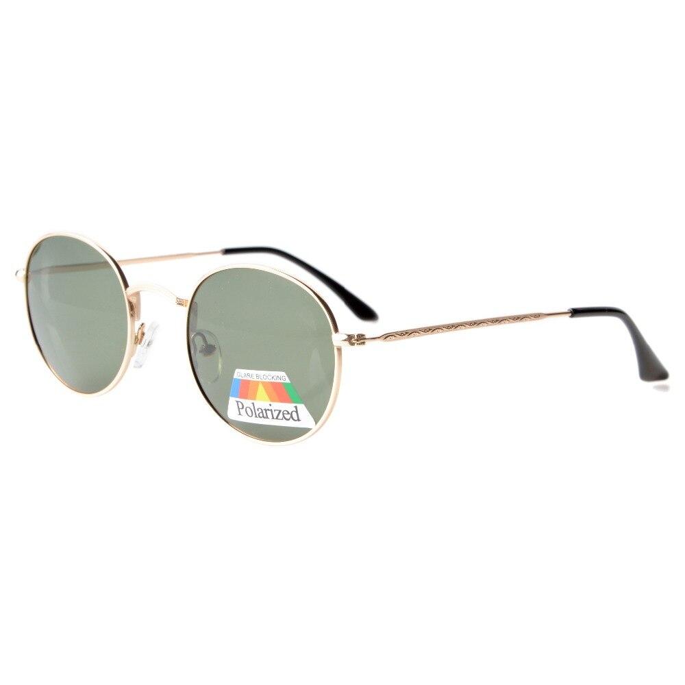 6093dd868f5f0c S1509 Eyekepper Vintage Style Qualité Ronde lunettes de Soleil Polarisées