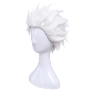Image 2 - L mail parrucca del Gioco Fate Stay Night Emiya Cosplay Parrucche 28 cm/11.02 pollici Bianco Resistente Al Calore Breve capelli sintetici Perucas Cosplay Parrucca