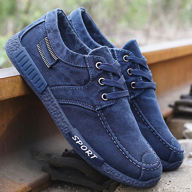 Fashion Spring Autumn Men Canvas Sneakers Denim Casual Shoes jeans Breathable Slip On Flats Men Loafers Driving Shoes for Male 2018 new men casual shoes man spring autumn loafers england fashion zapato breathable slip on flats