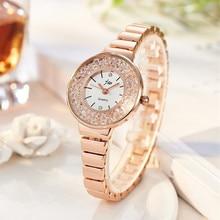 JW Fashion Women's Wrist Watches with Diamond Golden Watchband Top Luxury Brand