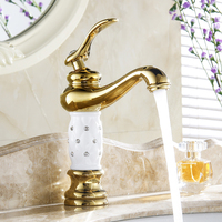 Basin Faucet Antique Luxury Chrome Tap Creative Design Bathroom Basin Sink Faucet Deck Mounted Hot And Cold Water Mixer Taps