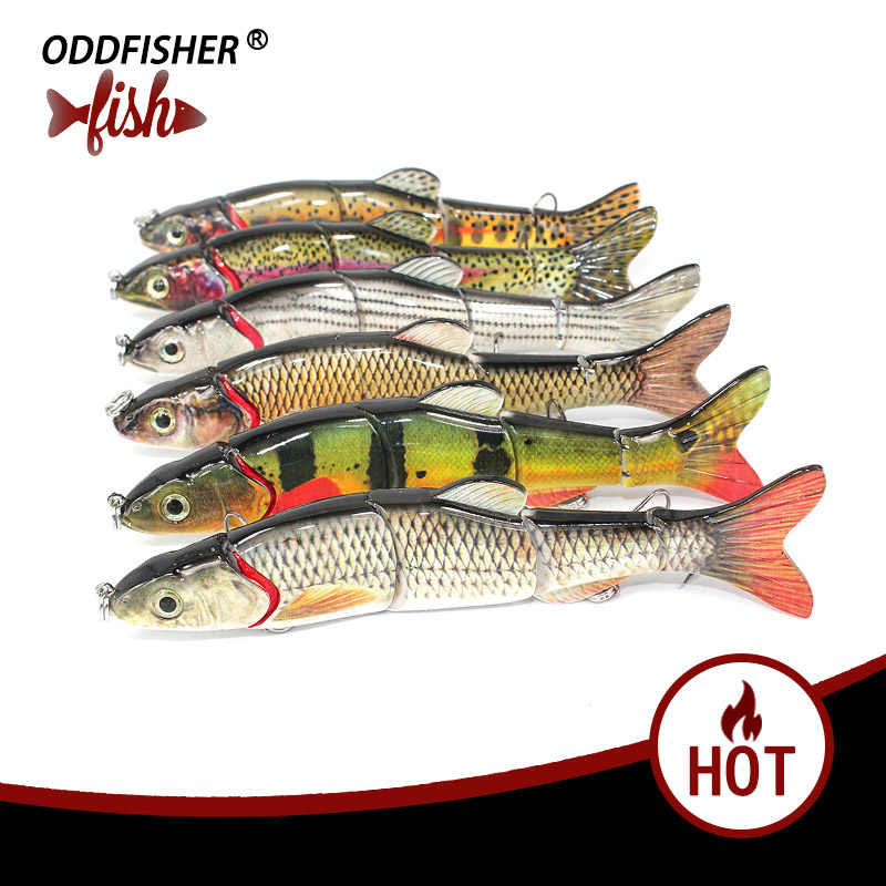 Wobblesr Fishing 16.5cm 40.5g Fishing Lures Plastic Crankbait Swimbait Lifelike Multi Jointed Bait Hard Lure with Treble Hooks