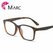 MARC Men TR90 Fashion Frame Eyeglasses Vintage Clear lens Resin Glasses Plastic Matte Leopard print Brown Eyewear 2019 G8019 1