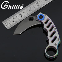 2 Color Claw Knife CS GO Counter Strike Karambit Claw Neck Knife Tactical Folding Knife Hunting