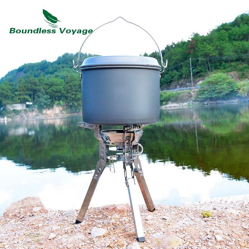 Boundless Voyage Открытый Кемпинг Газовая Складная плита большая плита складываемая посуда с бесплатным воспламенением - 6