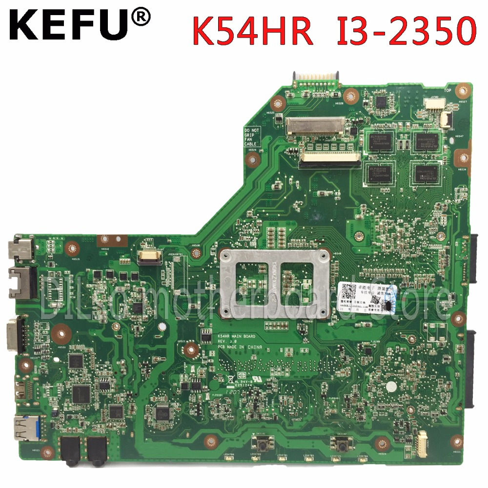 KEFU K54HR motherboard For ASUS A54LY X54LY X54HY K54HR A54HR K54LY laptop motherboard original tested mainboard I3 CPU in stock hot for asus x551ca laptop motherboard x551ca mainboard rev2 2 1007u 100% tested new motherboard