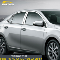 Gelinsi For Toyota Corolla 2014 Car Styling Gate Door Window Cover Frame Trim Sticker Exterior Accessories