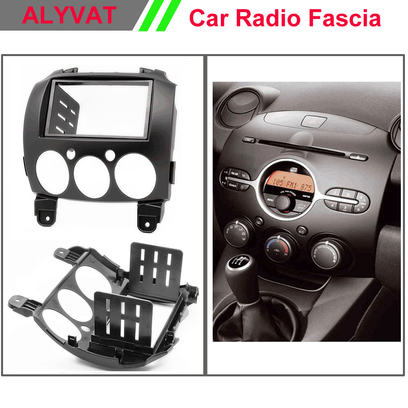 car radio stereo face facia surround trim Kit for MAZDA 2 Mazda2 Demio Stereo Fascia Dash CD Trim Installation Kit car radio dvd cd fascia panel for faw oley 2012 stereo dash facia trim surround cd installation kit