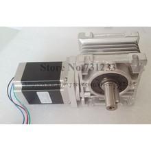 NEMA 34 Worm Reducer Stepper Motor 7.5:1~80:1 Motor Length 150mm 12N.m (1667oz-in)Nema 34 Worm Gear Stepper Motor CE ROHS цены
