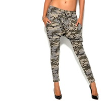 Women Harem Pants Fashion Couple Camouflage Print Drawstring Elastic Waist Pocket Trousers Casual Brand Hip Hop